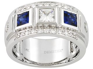 JTV Vault Blue and White Sapphire and Diamond ring, 14kt White Gold