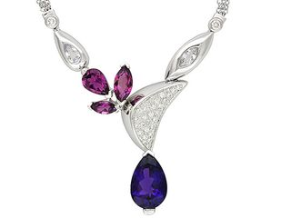 JTV Vault Amethyst, Pink Tourmaline and Diamond Necklace