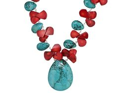 Turquoise necklace on jtv
