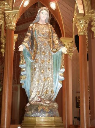 JTV World Tour Thailand Statue of Mary for the Cathedral of the Immaculate Conception in Chantaburi Thailand
