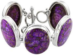 Purple turquoise bracelet sterling silver on jtv