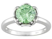 Jtv.com green moissanite ring