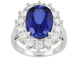 Jtv.com Bella Luce sapphire simulant princess ring