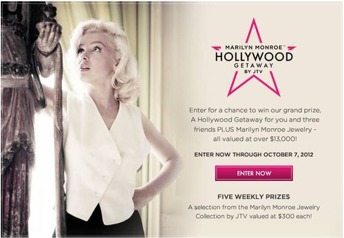 Jtv.com Marilyn Monroe's Hollywood Getaway by JTV Sweepstakes