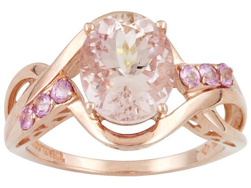 Jtv.com 10kt rose gold morganite ring stretch pay