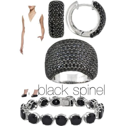 Black Spinel Collage
