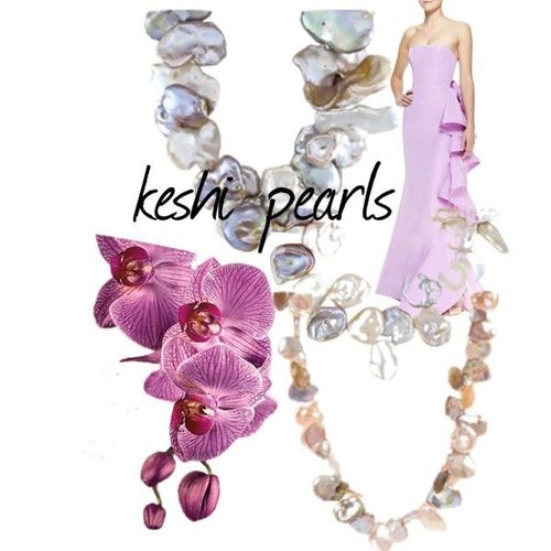 Keshi Pearls Collage
